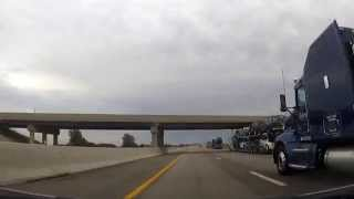 Driving on The Ohio Turnpike from Toledo to Fremont, OH