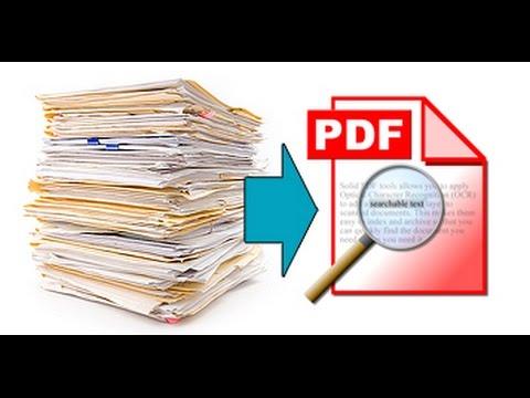 Scan Hard Copy Exam to a PDF file