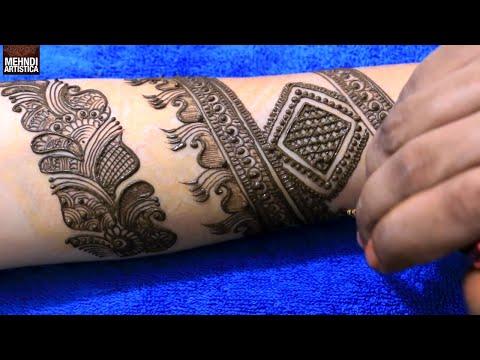 Arabic Border With Floral Mehendi Designs | Best Mehndi Design Tattoo For Brides | MehndiArtistica