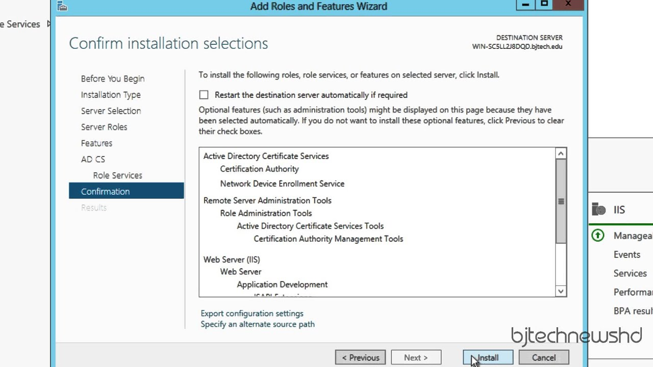 How To Install And Configure Ndes On Windows Server 2012 Youtube