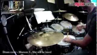 Maroon 5 - she will be loved - DRUM COVER Video