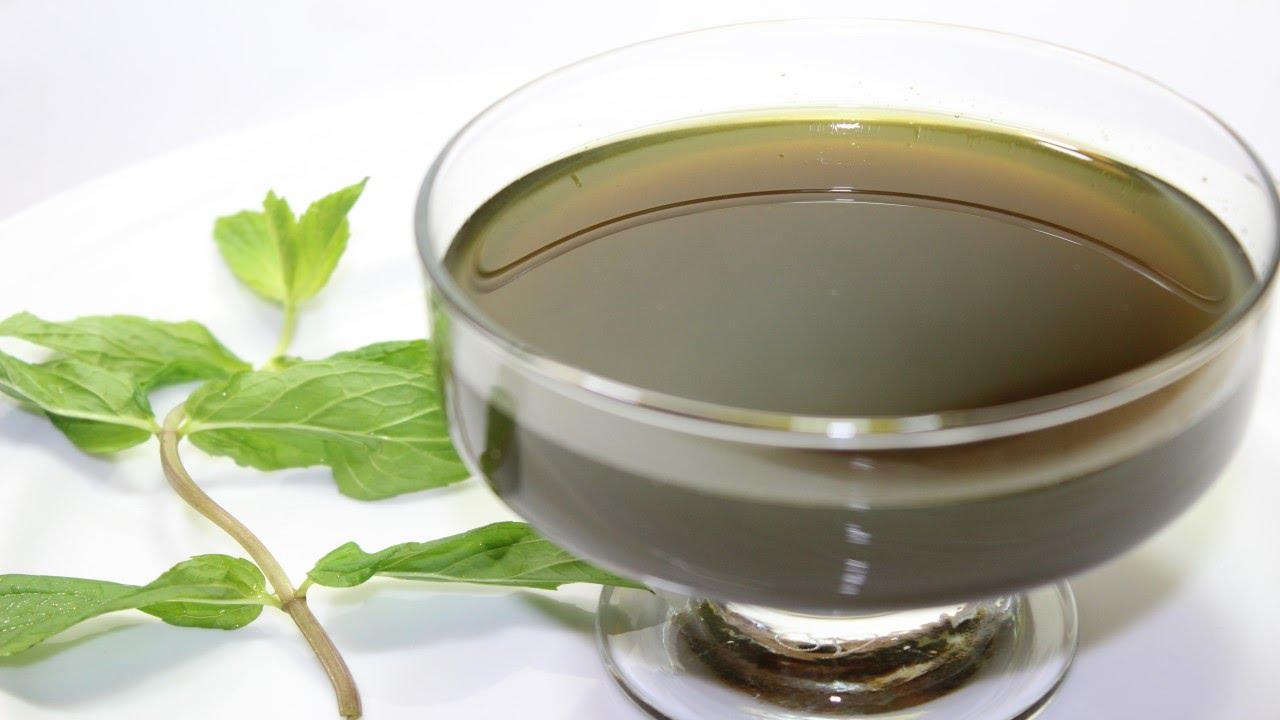 طريقة عمل سيرب النعناع المركز - شراب النعناع - Mint Syrup