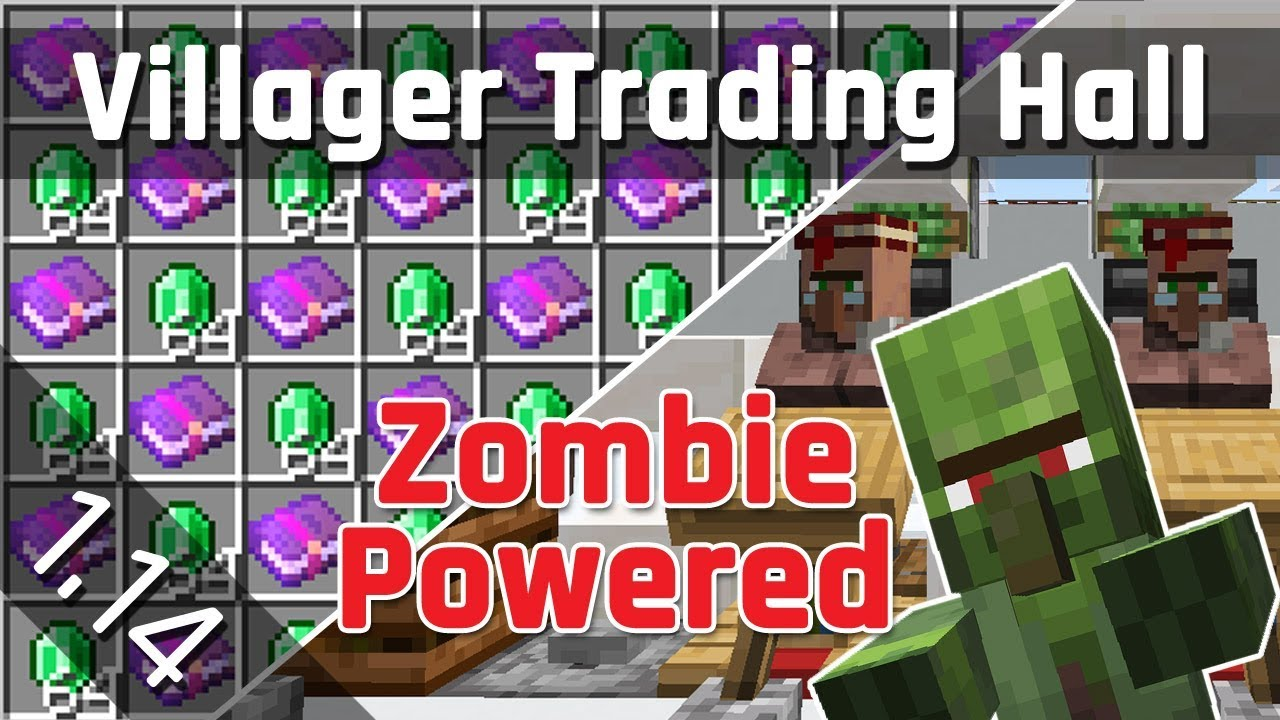 Villager Trading Hall Tutorial With Zombie Discounts Minecraft
