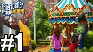 RollerCoaster Tycoon Adventures Gameplay Walkthrough Part 1 - Nintendo Switch