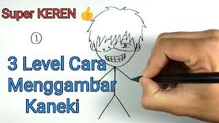 3 Level Menggambar Kaneki Ken / 3 Ways How To Draw Kaneki Tokyo Ghoul