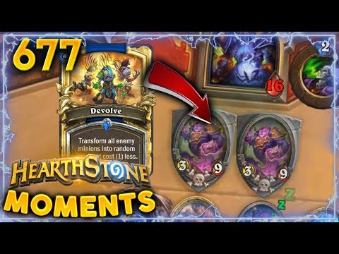 EASIEST DEVOLVE EVER!! | Hearthstone Daily Moments Ep. 677