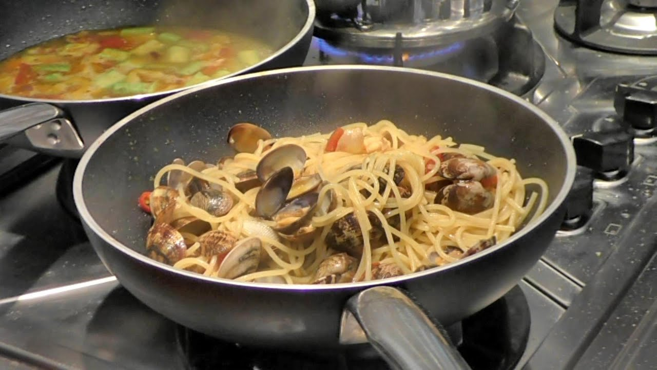 Spaghetti and Clams with Bottarga and Turmeric
