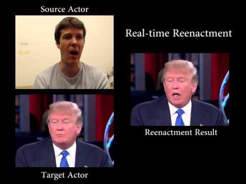 Face2Face  - Real time Face Capture and Reenactment of RGB Videos (CVPR 2016 Oral)