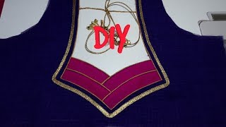 Very Beautiful And Very Easy Back Neck Design Cutting And Stitching