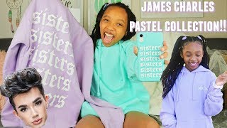 James Charles Pastel Collection Sister Apparel Unboxing