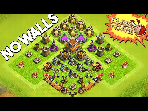 NO WALLS ON MY BASE  - Clash of Clans - UPGRADING BUILDINGS!!