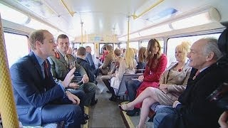 Will and Kate travel by bus to support Poppy Day