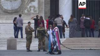 Italian army moves in to guard capital