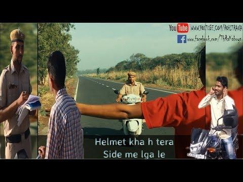 Fake Haryana Police Educating People  || Wear Helmet || Obey Traffic Rules || Part-1 || ThRaKa