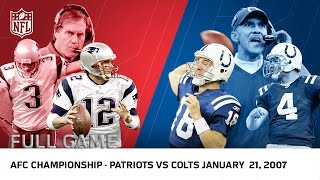Tom Brady vs. Peyton Manning: 2006 AFC Championship | Patriots vs Colts | NFL Full Game
