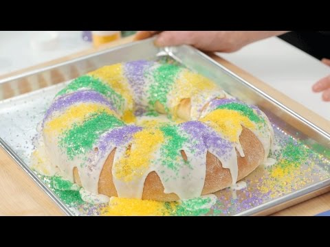 How To Make a Mardi Gras King Cake   Southern Living
