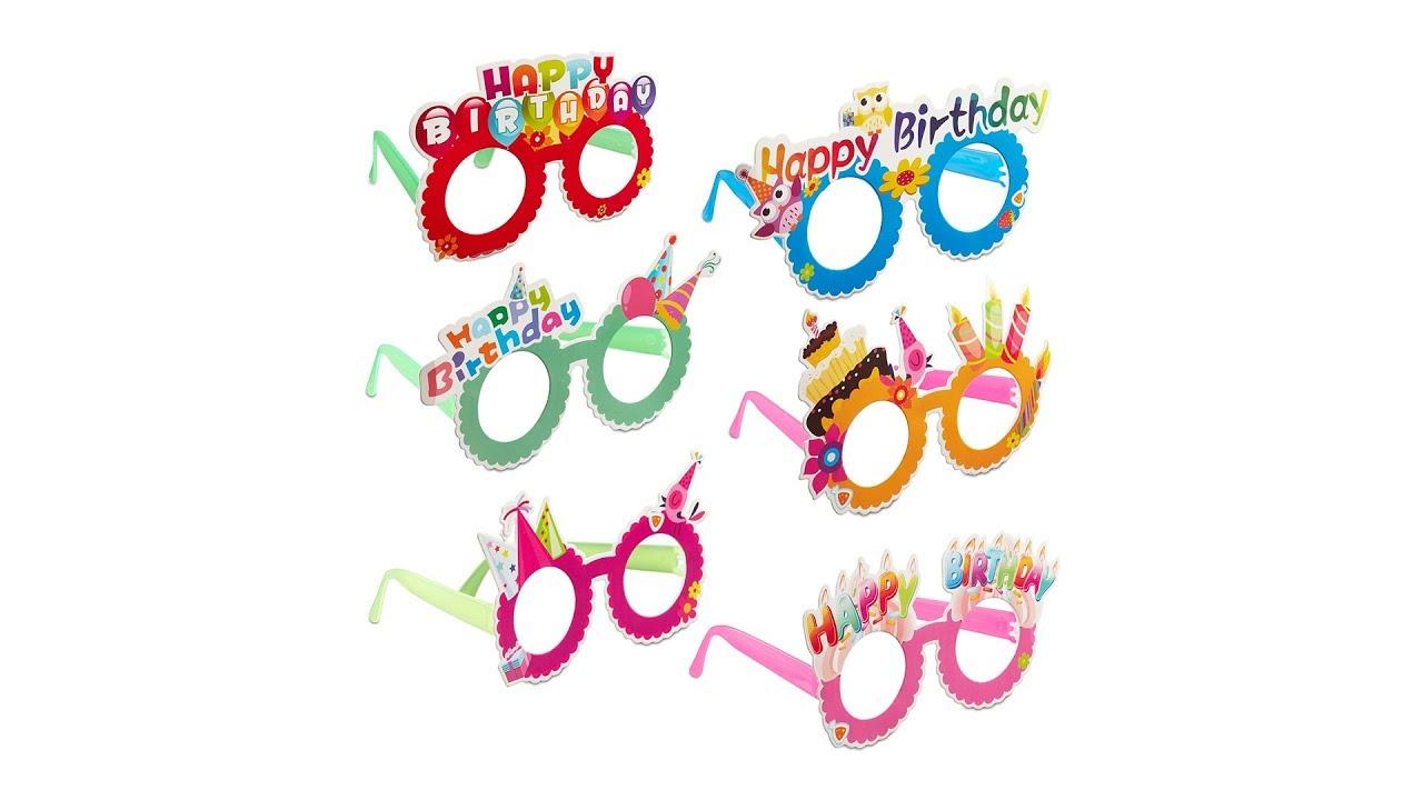 24x Partybrille groß Riesenbrille Clown Brille Scherzbrille Gagbrille Spaßbrille