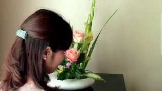Why don't you try Ikebana with me? You will love it. Iapologize for...