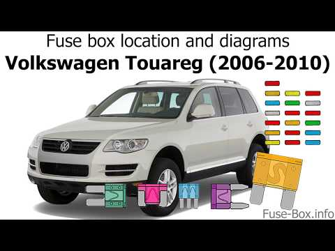 fuse box location and diagrams volkswagen touareg (2006