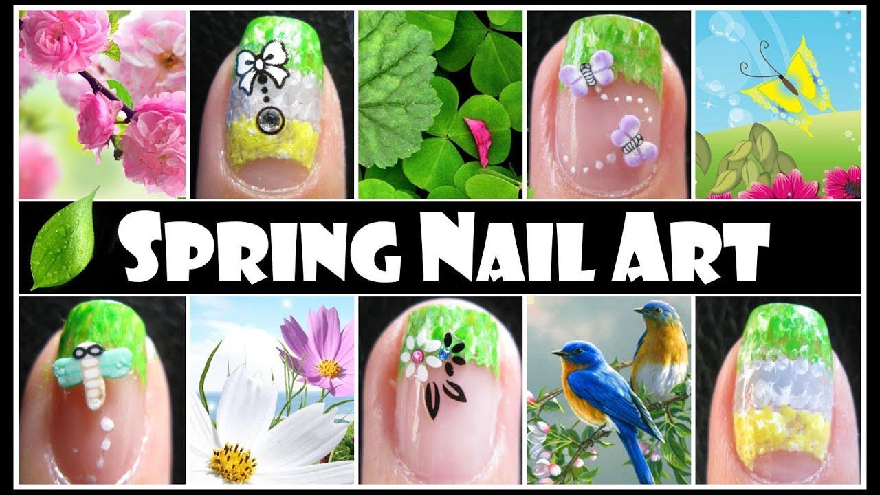 spring nail art design easy