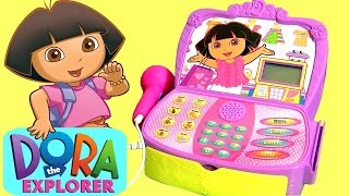 DORA the Explorer Cash Register Supermarket Toy Surprise Disney Frozen, Paw Patrol Mashems Aladdin