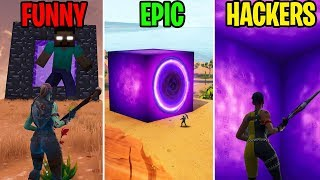 How to Get INSIDE the Purple Cube FUNNY vs EPIC vs HACKERS - Fortnite Funny Moments (Battle Royale) thumbnail