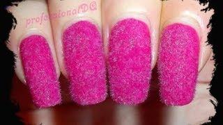 Pink Fluffy Nails!!