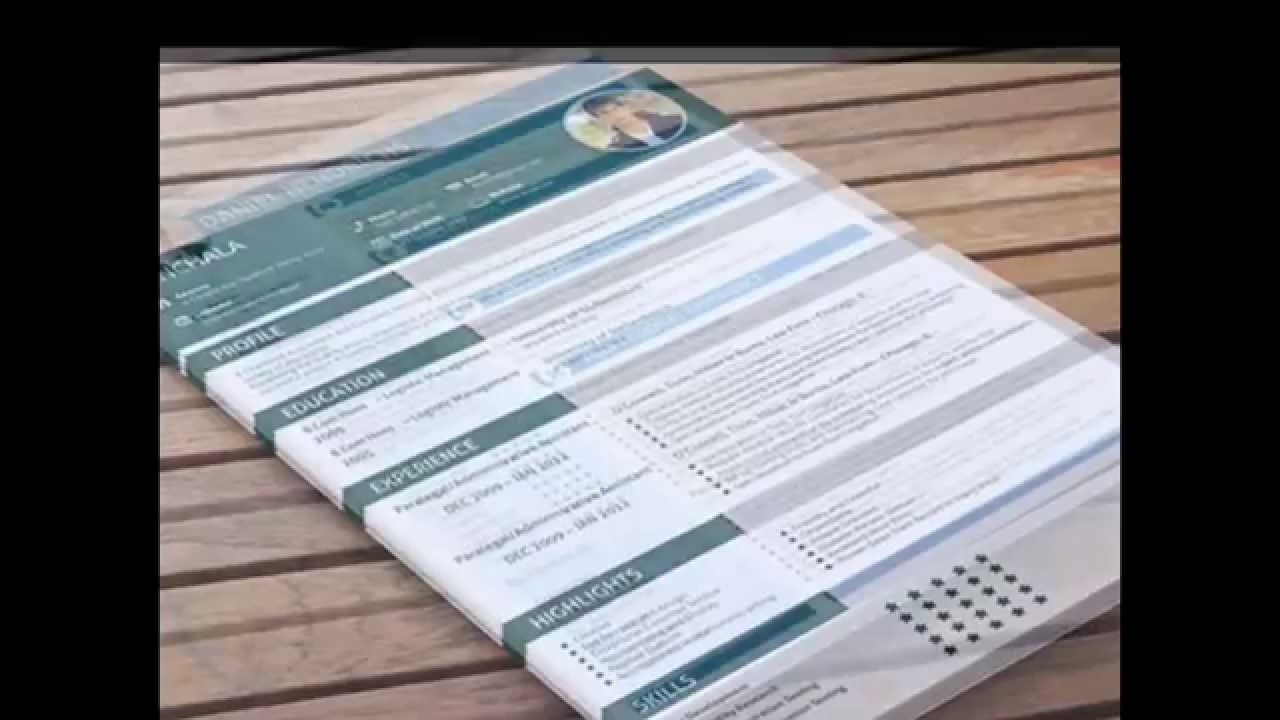 Free Cv Resume Template  Youtube