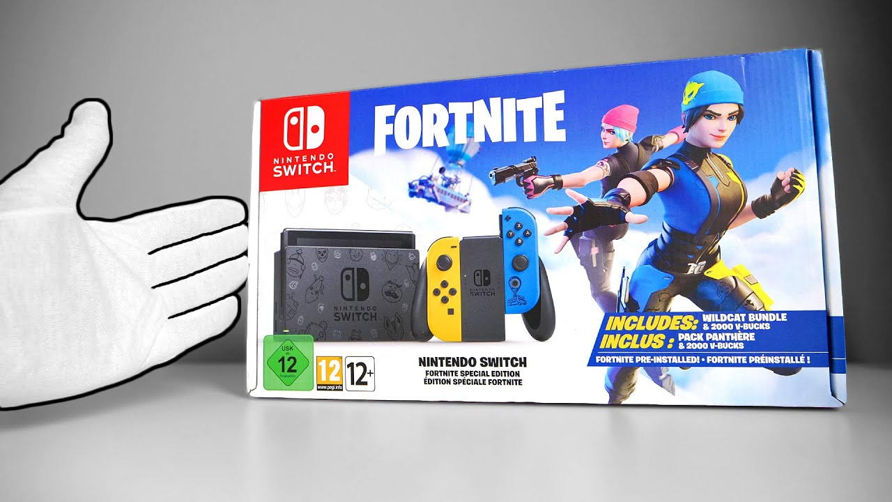Nintendo Switch Fortnite Console 2 Unboxing Special Edition Wildcat Bundle Youtube