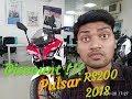 New Bajaj Pulsar Rs200 Review // 2018 Red Recing //walking Around