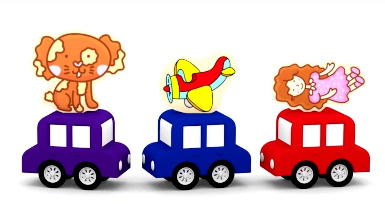 4 Carros Coloridos O Quebra Cabecas Brinquedos Desenhos