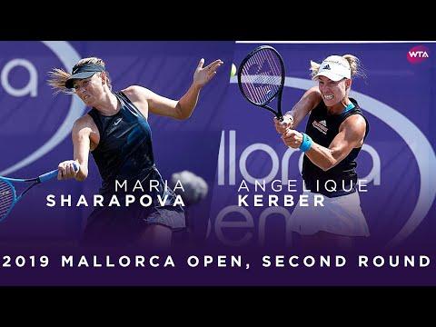 Maria Sharapova Vs. Angelique Kerber | 2019 Mallorca Open Second Round | WTA Highlights