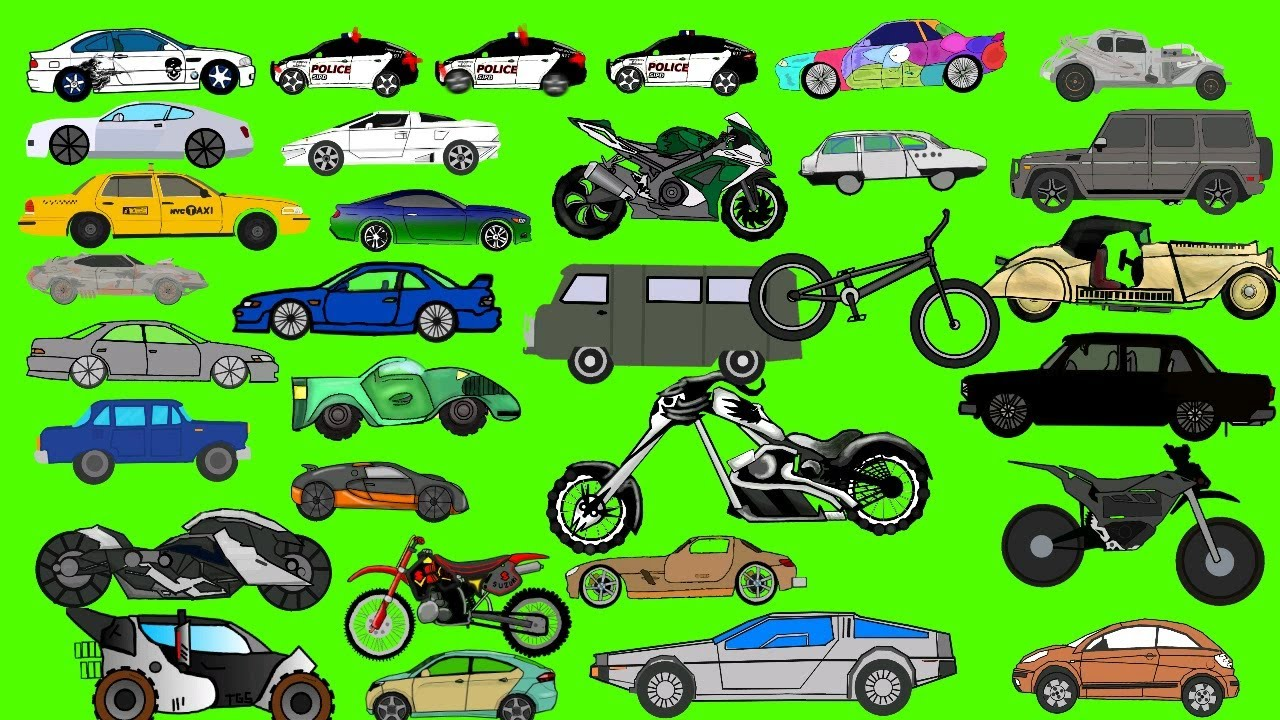 Every Car & Motorcycle Pack #2 DC2 👉📦👈 । Drawing Cartoons 2 Item Download । Рисуем Мультфильмы 2