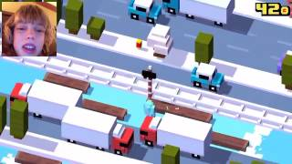 Mystery character on crossy road