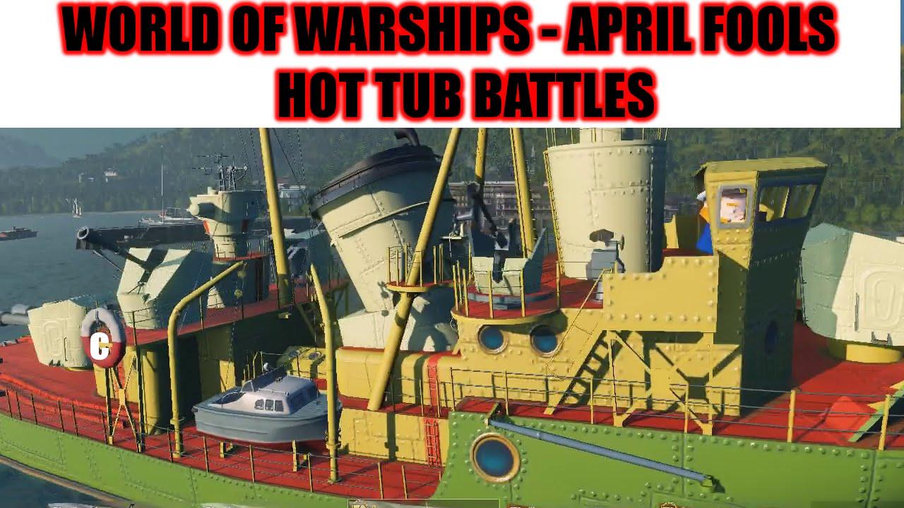 World Of Warships April Fools 2016   Bathtub Battles !!!   Wargaming April  Fools 2016