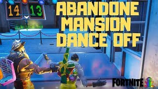 Fortnite - SEASON 7 WEEK 2 BATTLE PASS CHALLENGE DANCE OFF AT ABANDONED MANSION
