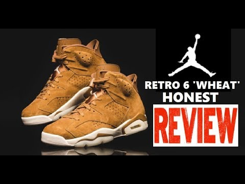 online store 08bd7 70e45 Air Jordan 6 VII Wheat Harvest Retro Sneaker HONEST Review + LIMITED  EDITION UNBOXING