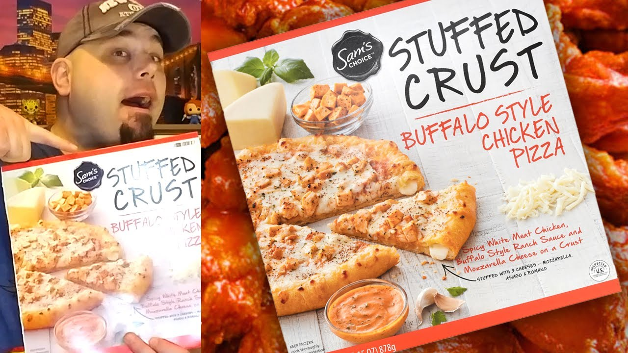 Sam S Choice Frozen Stuffed Crust Buffalo Chicken Ranch Pizza Review Youtube