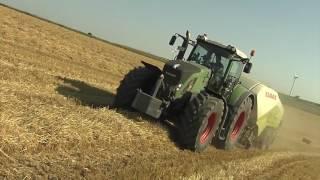 TraktorTV Folge 55 -Fendt Vario 936 mit der Claas Quadrant 3200 beim Strohpressen