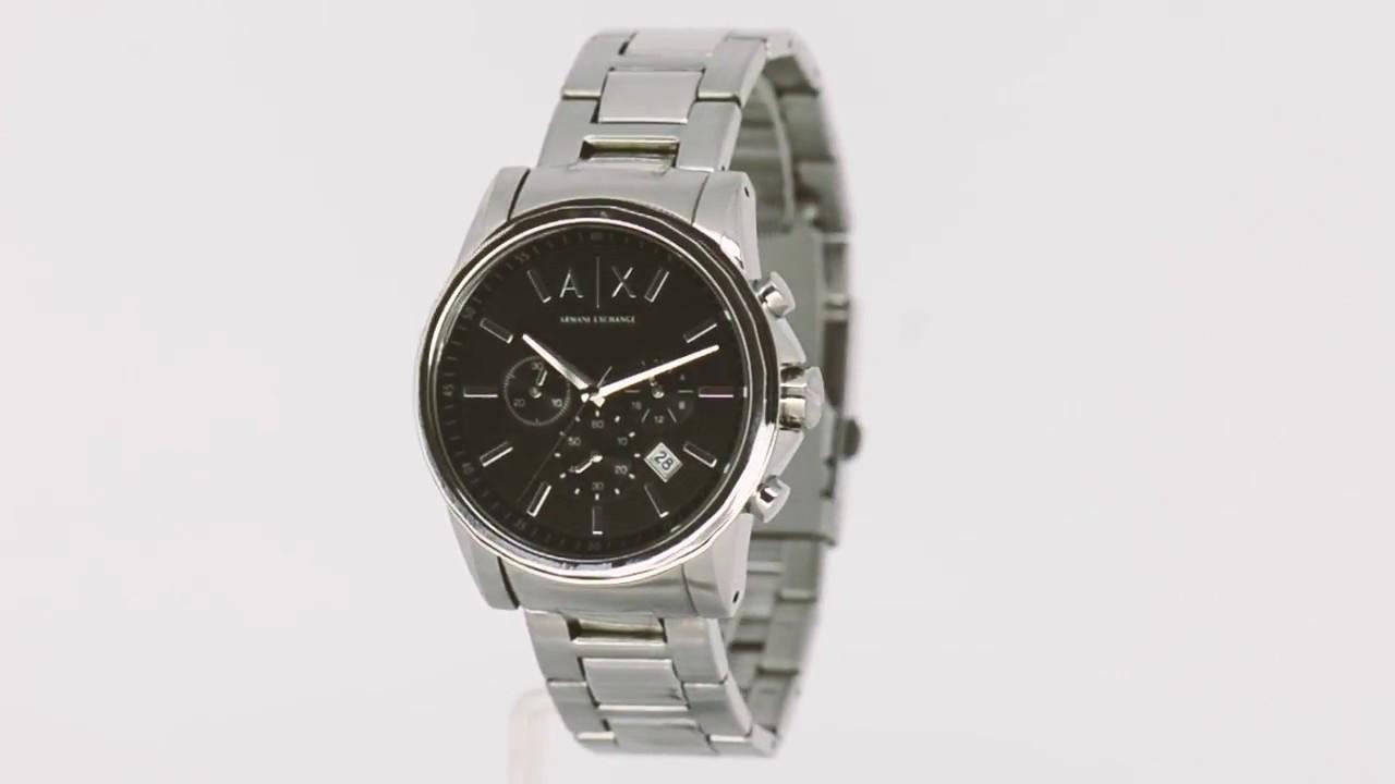f31b4854f8f Relógio Armani Exchange Masculino AX2084 1PN - Eclock - YouTube
