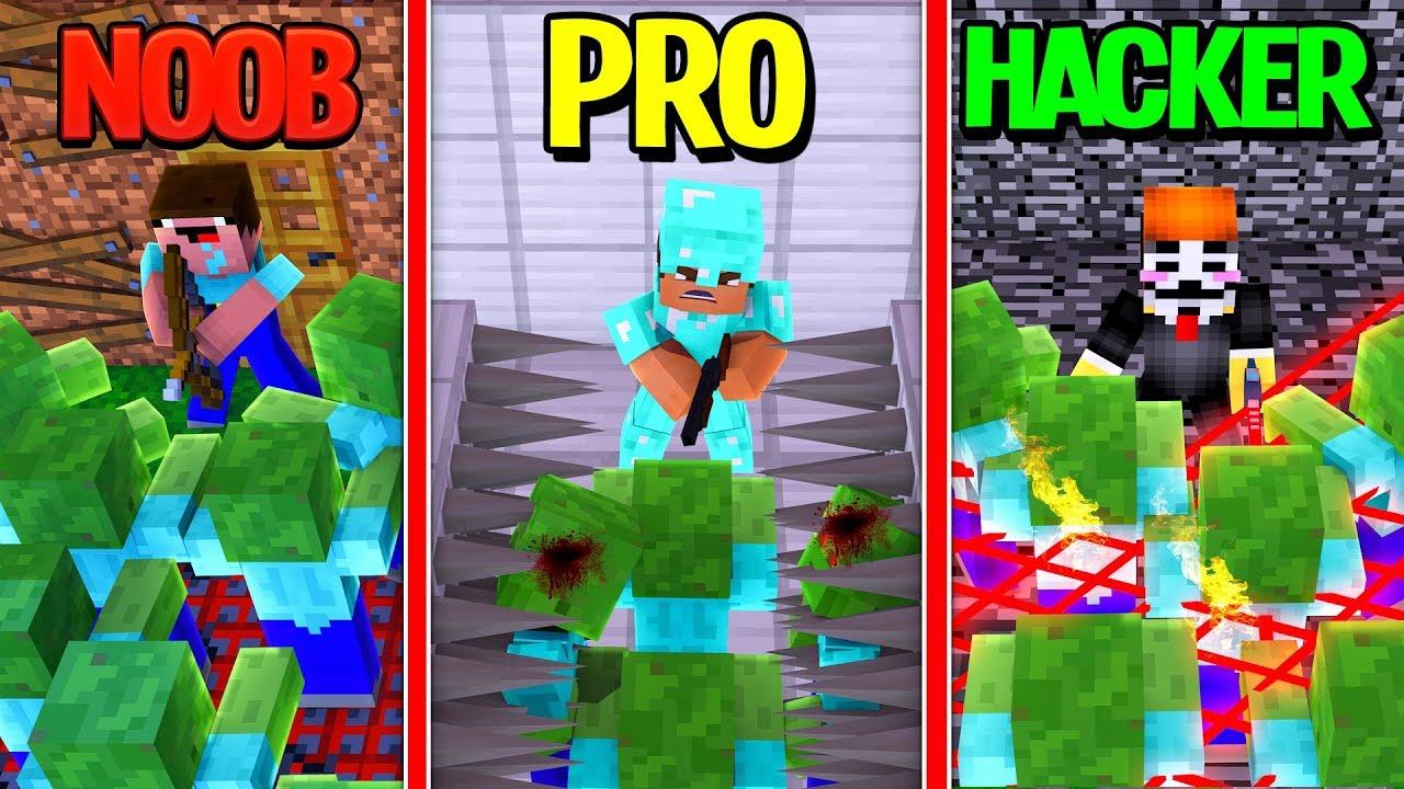 fun mover: Minecraft - NOOB PRO HACKER - SECURE ZOMBIE BASE