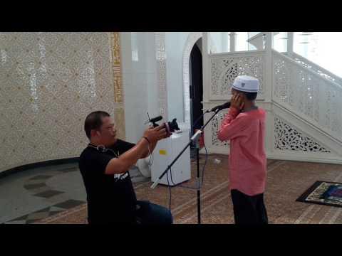 Azan Di Masjid Kristil Kuala Terengganu- Tahfiz Muda Aqil