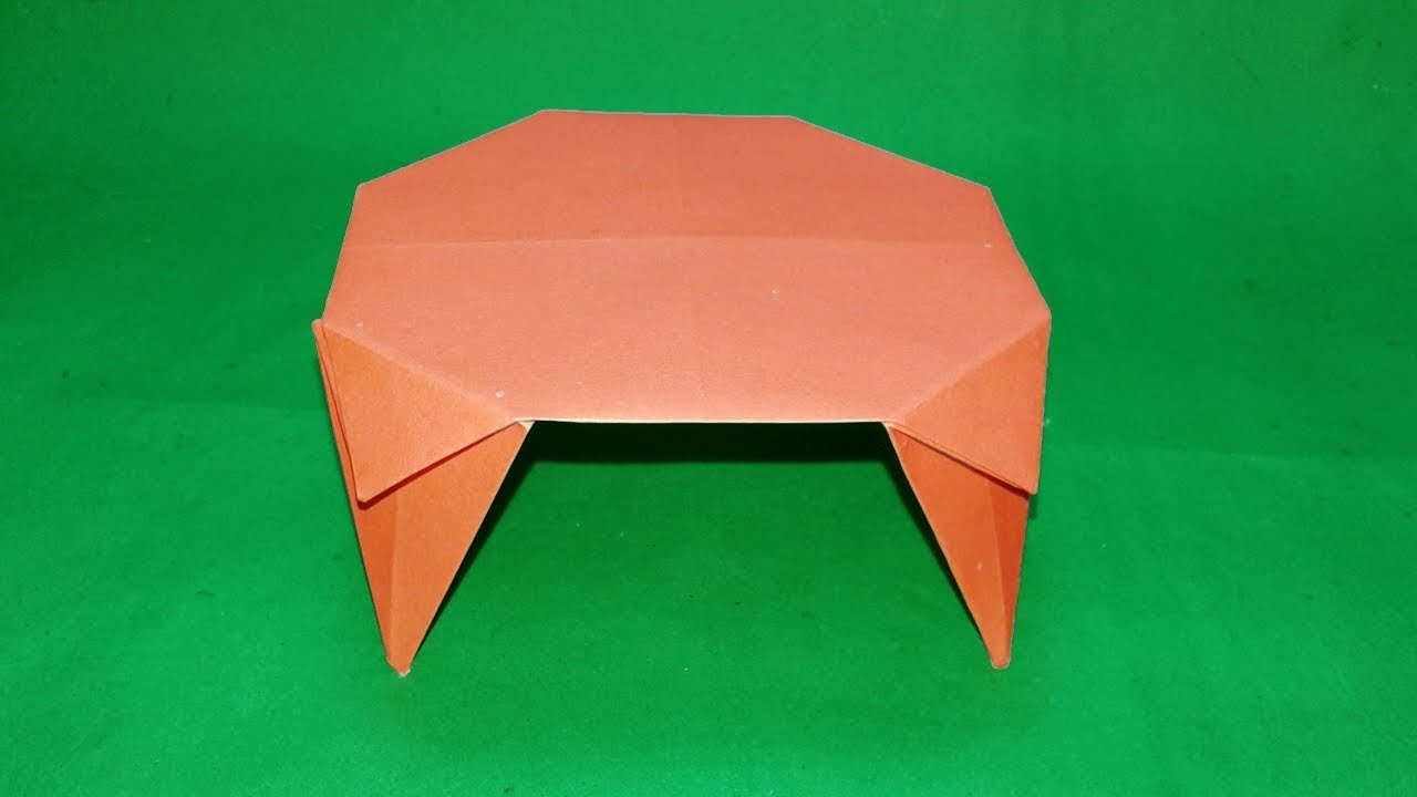 How to make a paper table 3d origami table making origami 3d origami table making origami furniture instructions jeuxipadfo Gallery