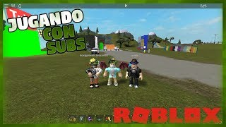 PLAYING WITH SUBS ON MY MAP ROBLOX ? 17_SANTI