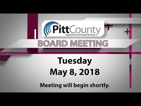 Department of Social Services Board meeting for 5/8/2018