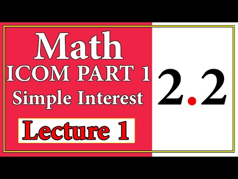 Business Mathematics I.Com | Mathematics Of Finance | Exercise 2.1 | Part 3 thumbnail