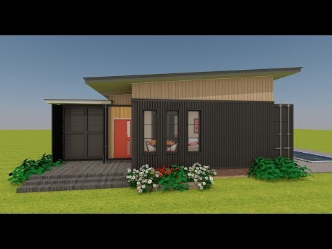 Shipping Container 3 Bedroom House Design | COURTBOX 640