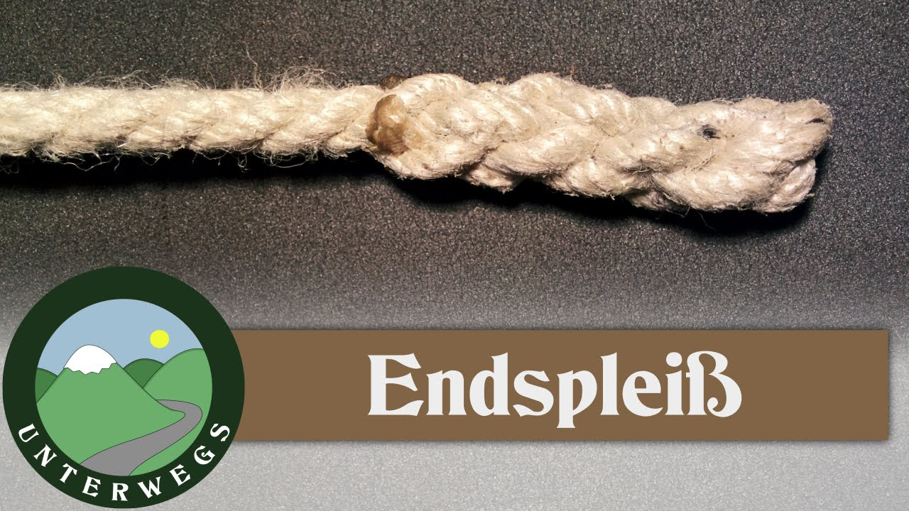 Seil-Ende spleißen - Endspleiß - Outdoor Tutorial - YouTube