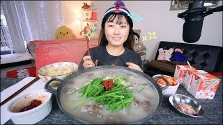 My All time favorite!!! ♥ Korean Soondae(blood sausage) Soup Recipe Mukbang (순대국밥먹방)| KEEMI★
