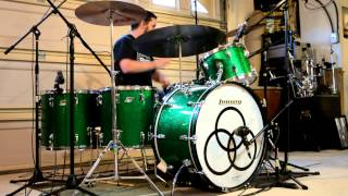 Led Zeppelin - Stairway To Heaven (Multi-Cam Drum Cover) w/ Music - Vintage Ludwig Green Sparkle Kit